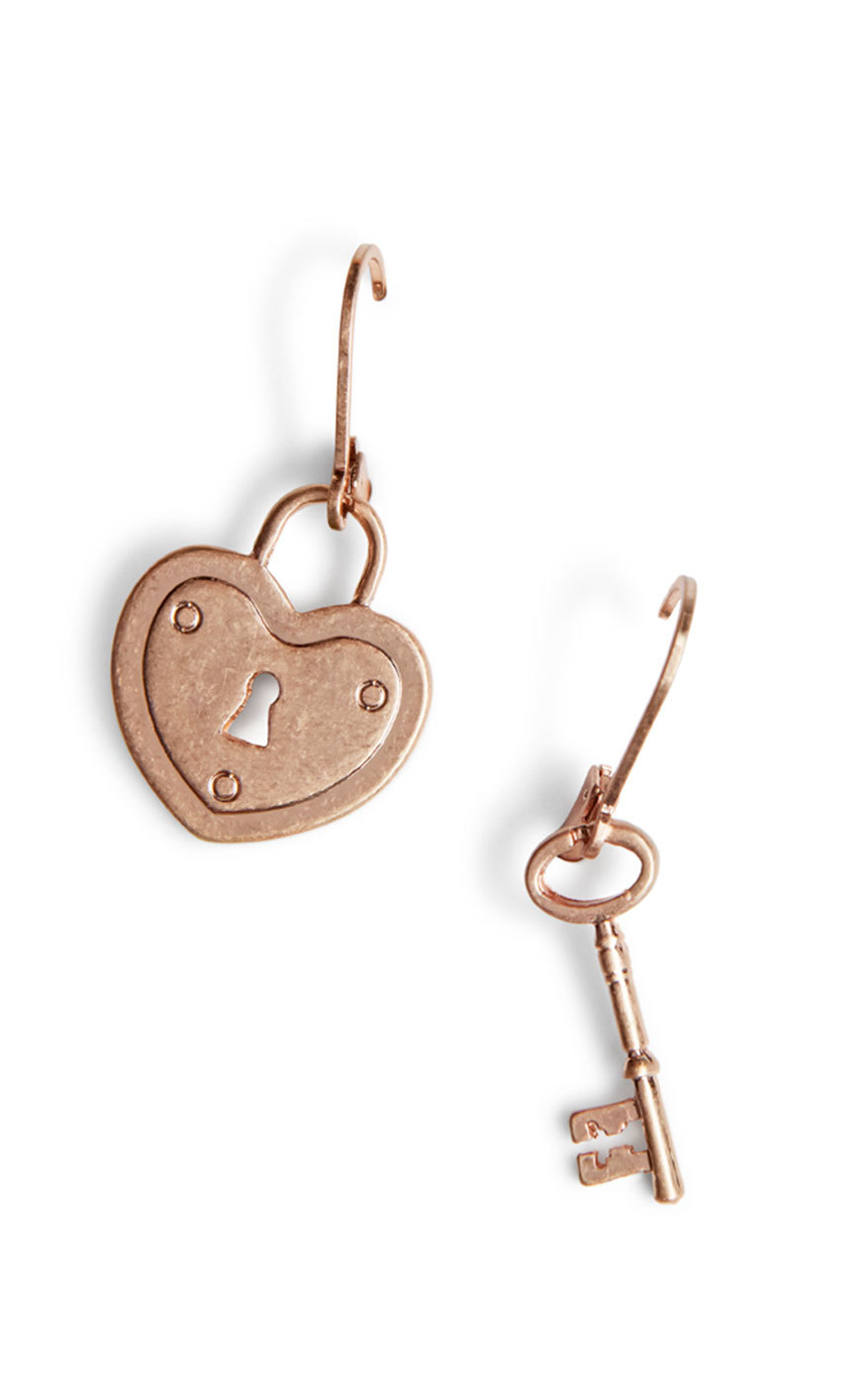 cabi's Lock and Key Earrings