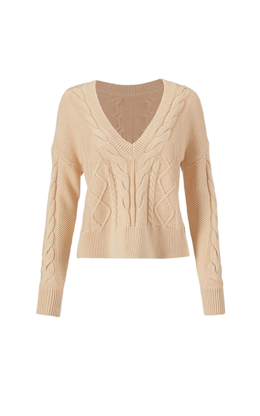 cabi's Cropped Cable Pullover