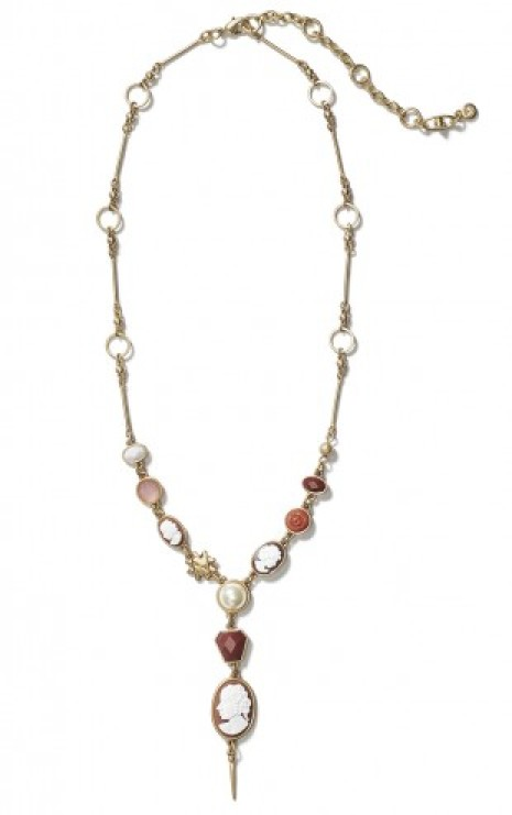 Cameo Necklace in Multi Front