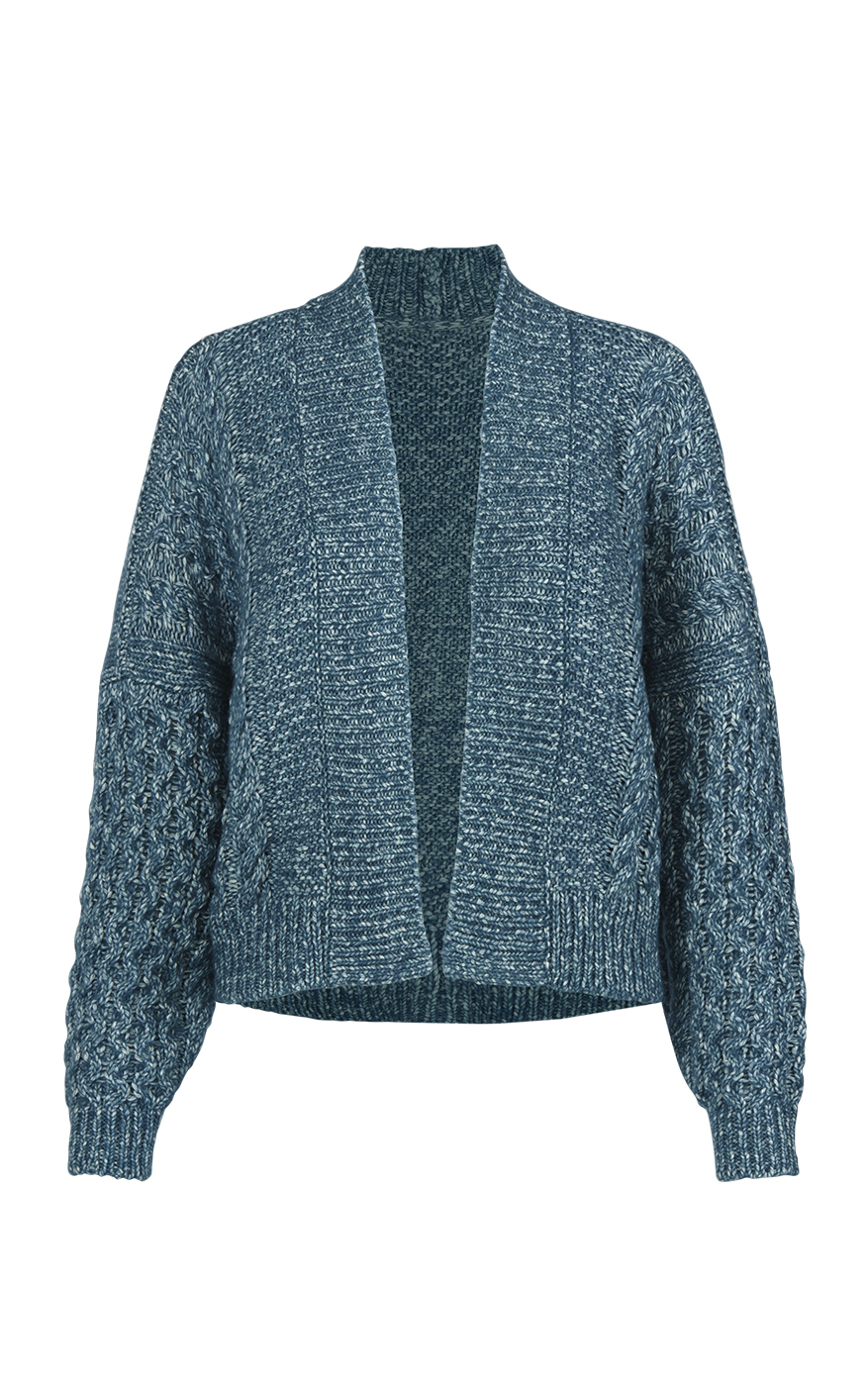 Astral Cardigan in Celestial Blue Front