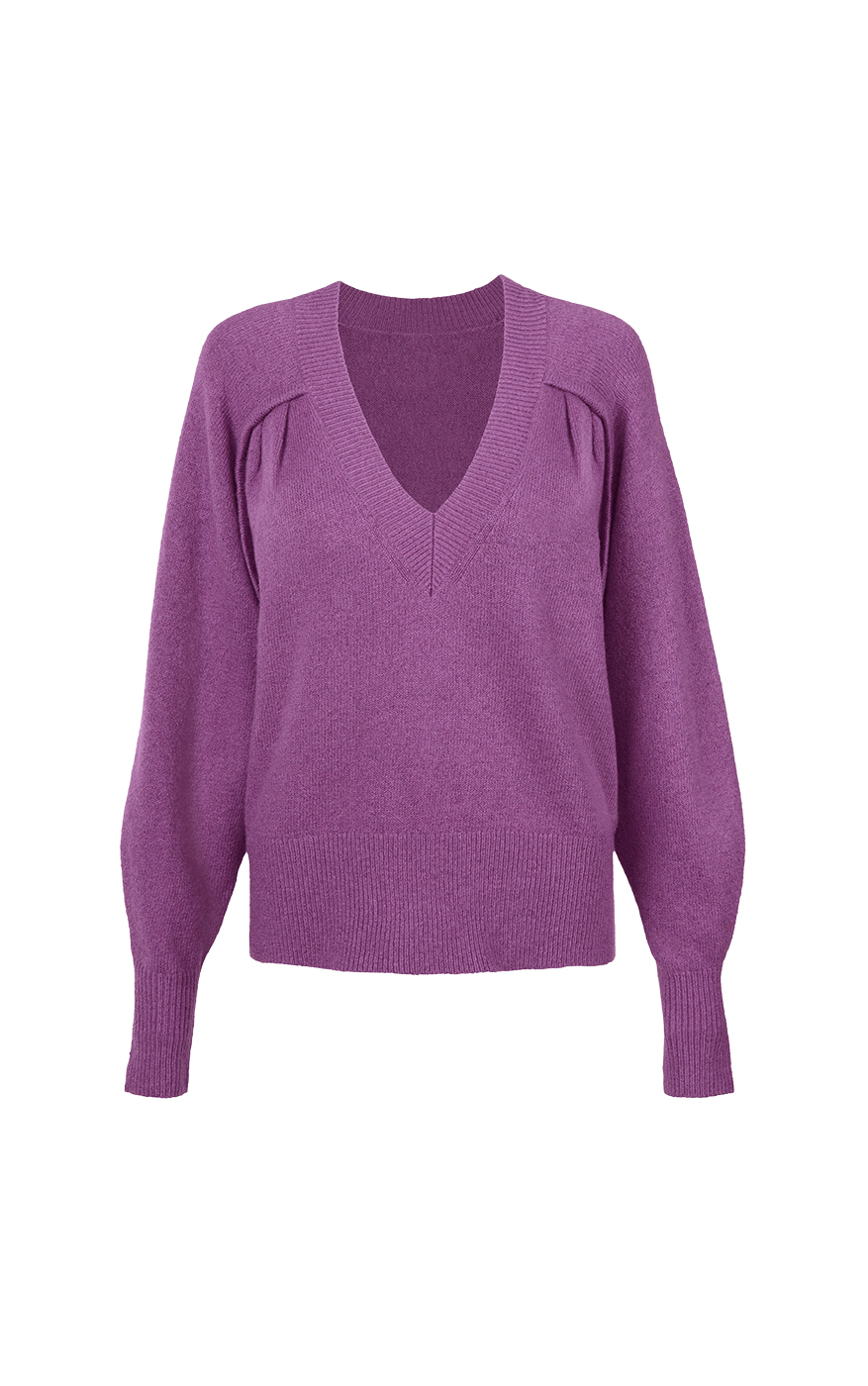Luxury Pullover in Violet Front
