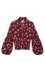 Corsage Blouse in Wine Blossom Flat