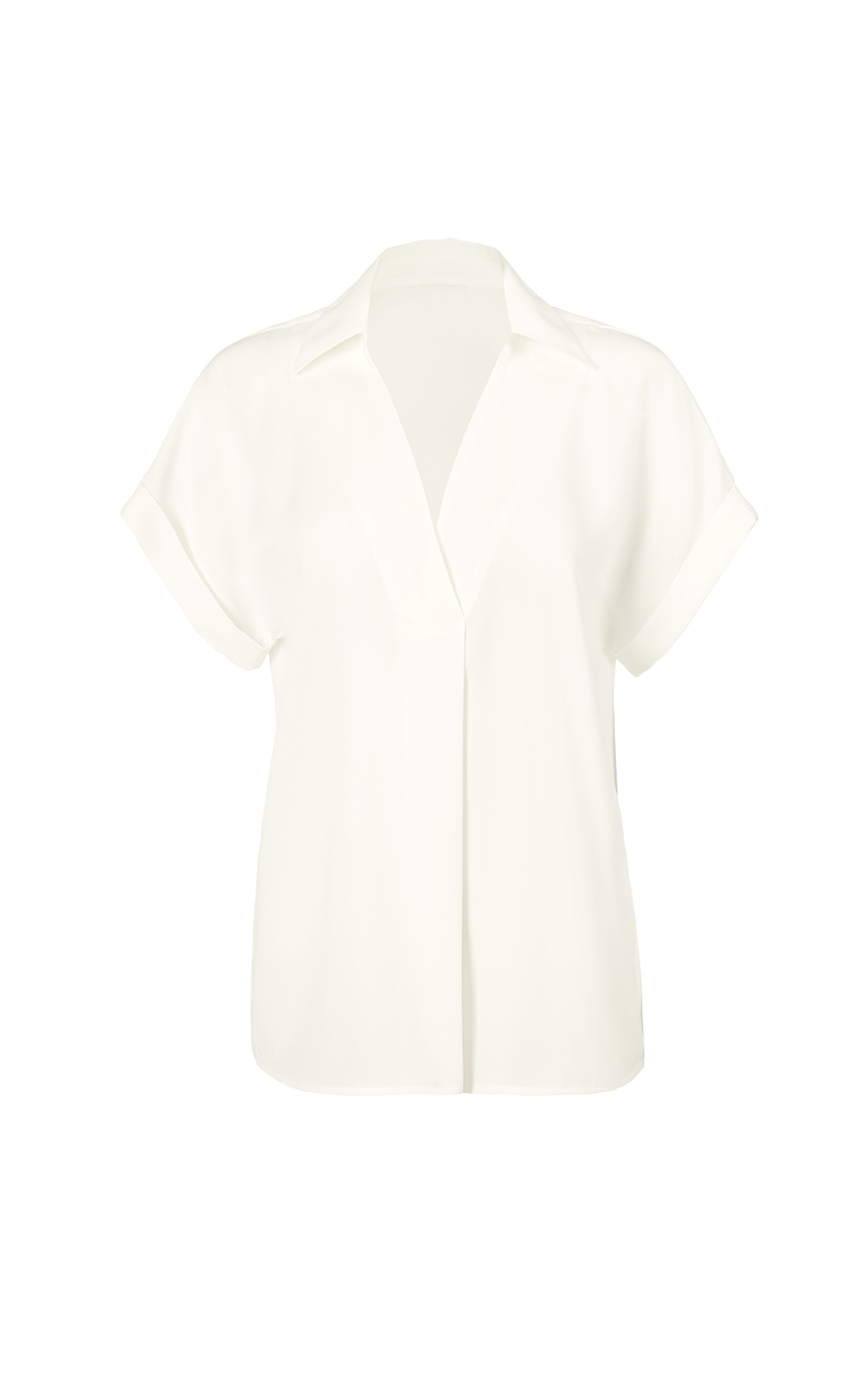 Replay Top in White Front