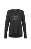 Love You Tee in Black Front