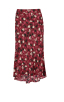 Corsage Skirt in Wine Blossom Front