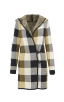 Sweater Coat in Yellow Buffalo Check Front