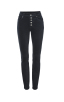 Button Fly Skinny in Dark Sapphire Front