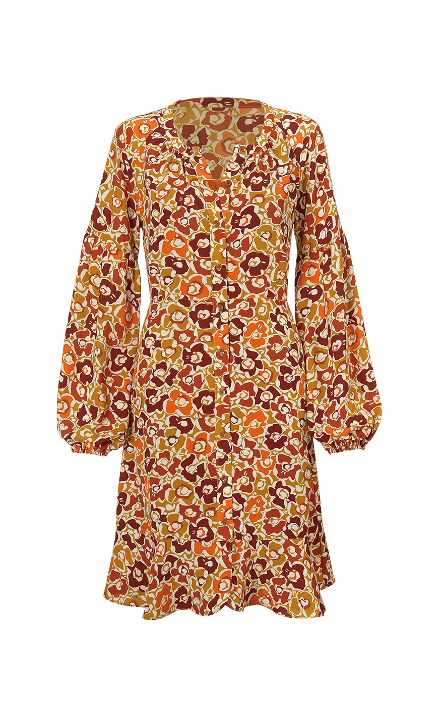 Daydream Dress in Floral Print Front